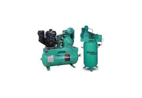 Green color air compressor